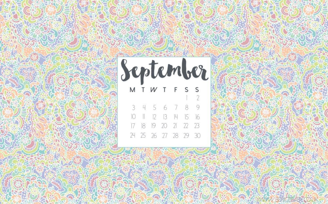 September 2018 Desktop Calendar