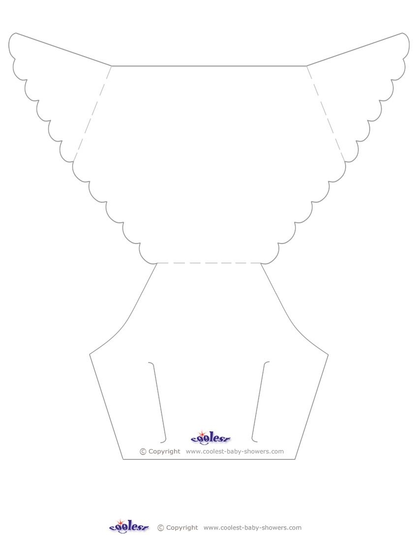 Baby Shower Diaper Template