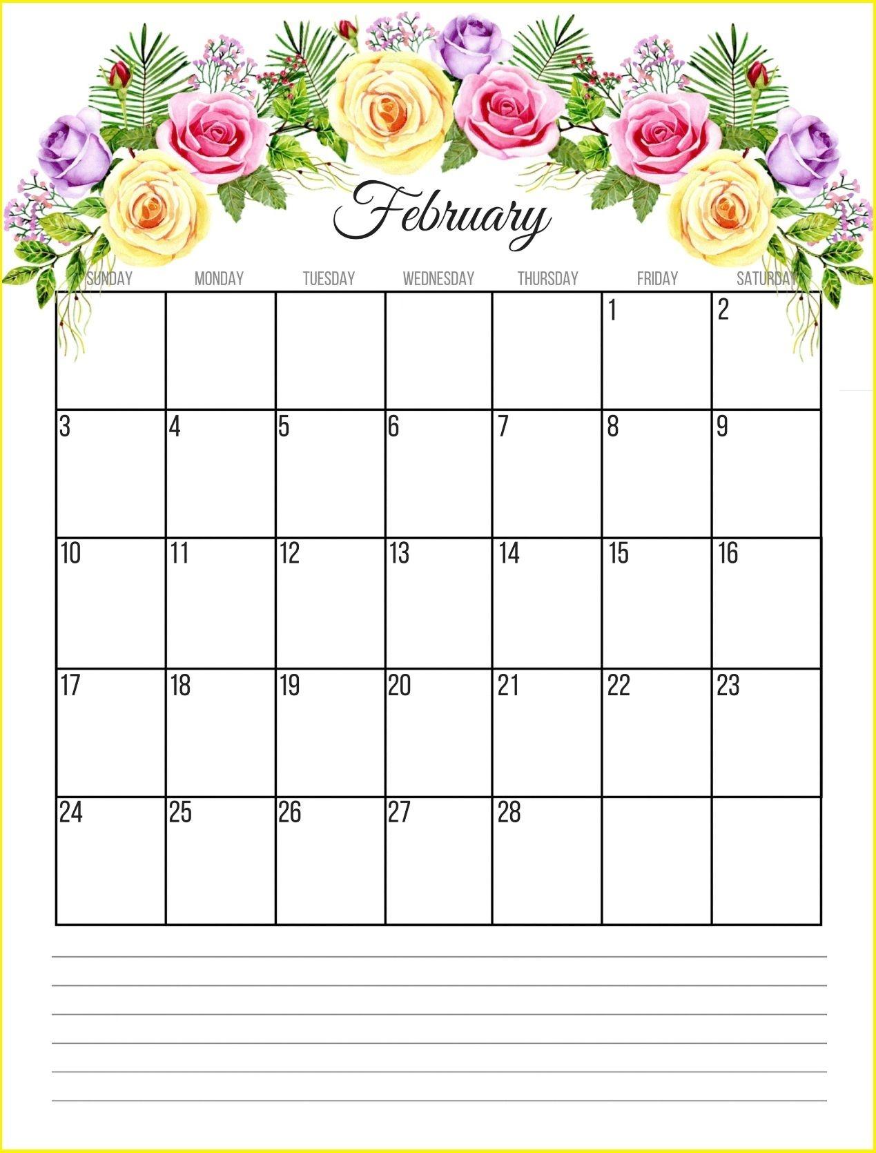 February 2019 Calendar Designs