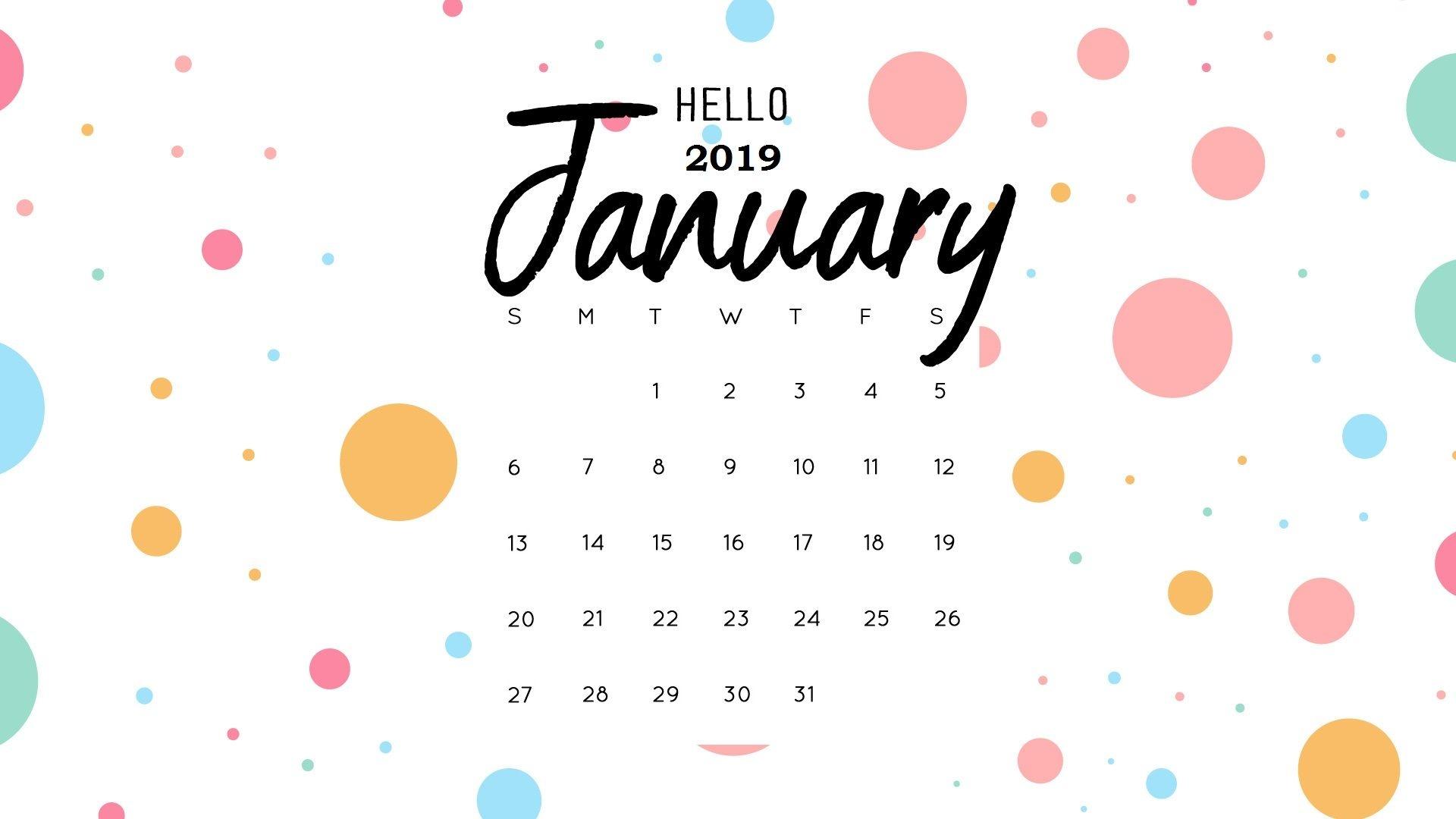2019 Calendar Wallpaper
