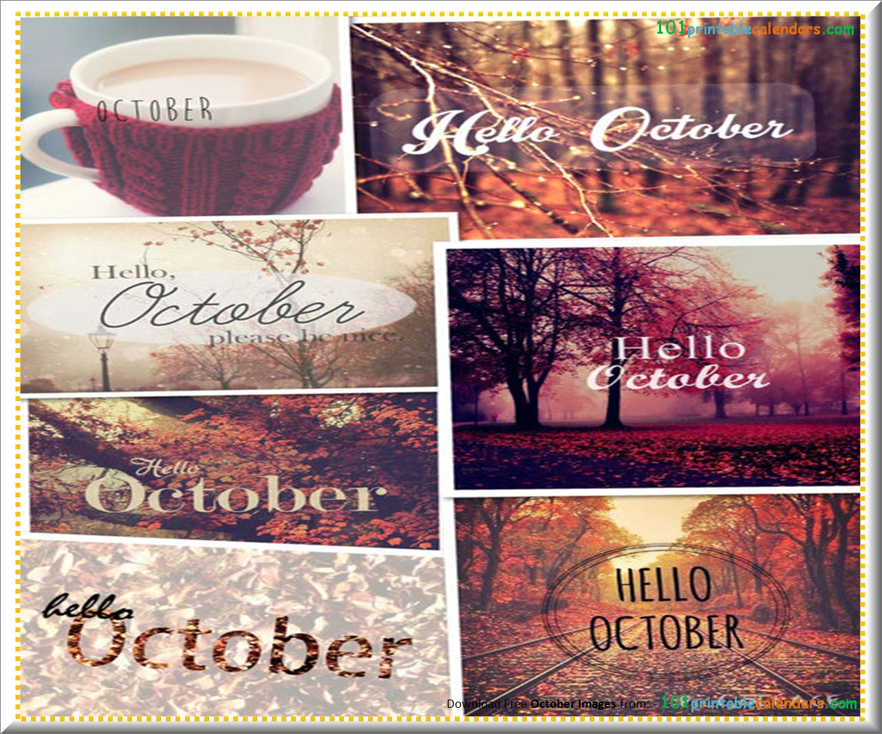 Hello October Month Tumblr Pinterst Instagram Facebook