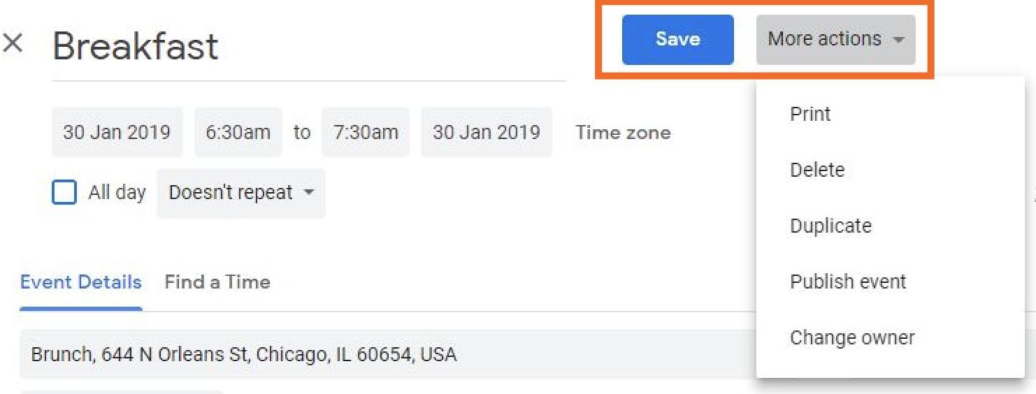 Google Calendar Usa