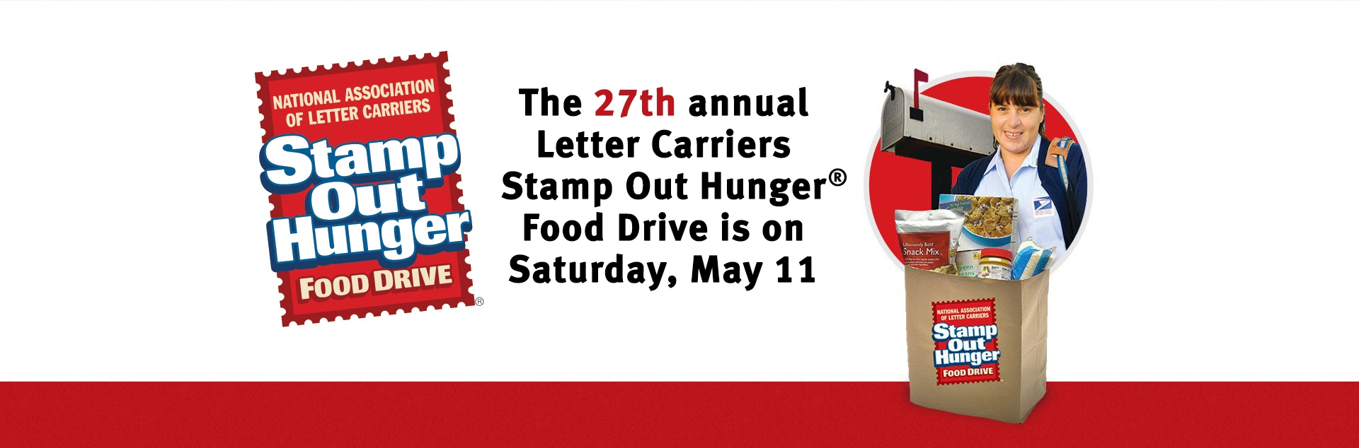 Letter Carriers Stamp Out Hunger Food Drive Home