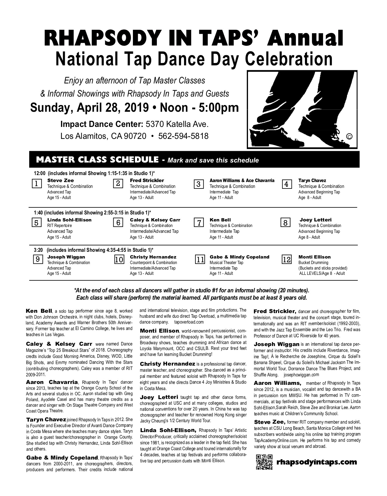 National Tap Dance Day 2019