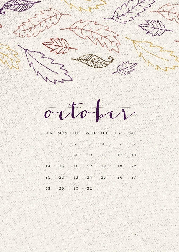 October 2018 Screensaver Backgrounds