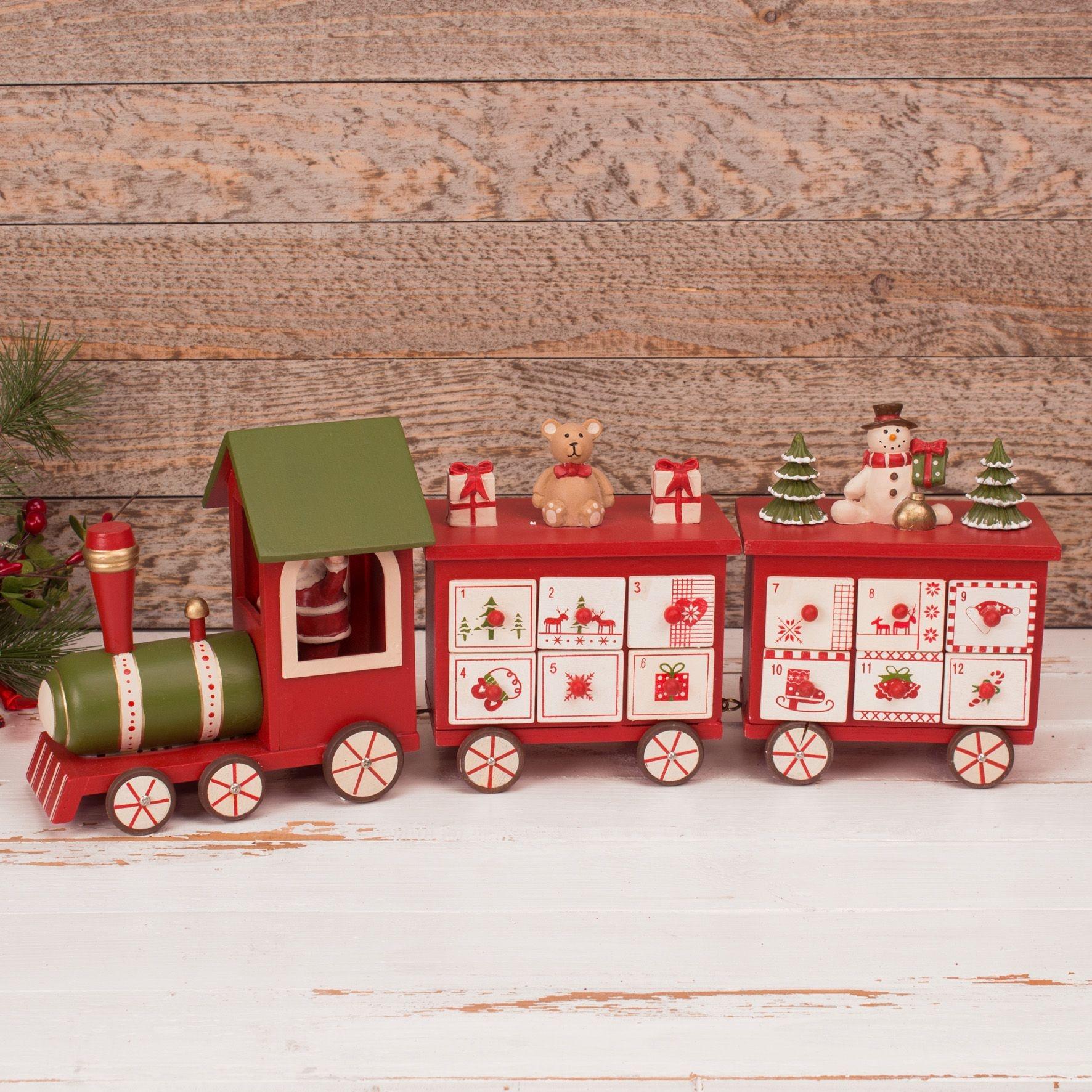 Wooden Train Advent Calendar Uk