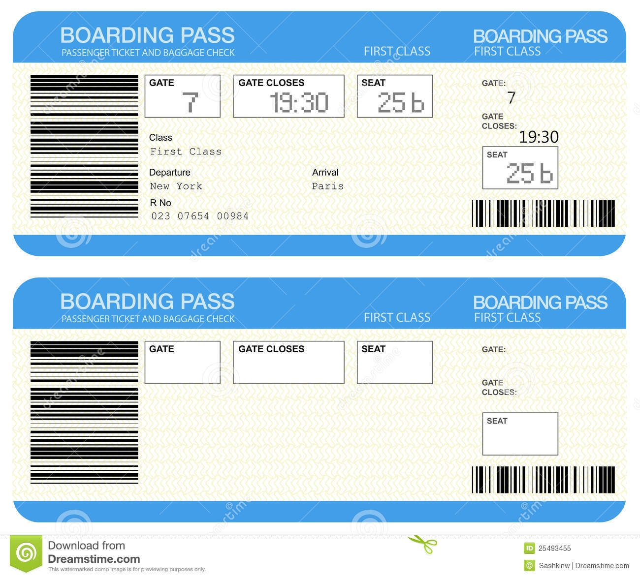 United Airlines Boarding Pass Template
