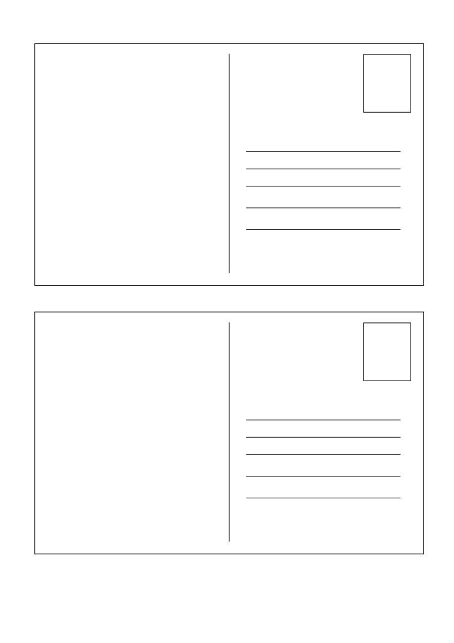 Free Blank Printable Postcards Templates