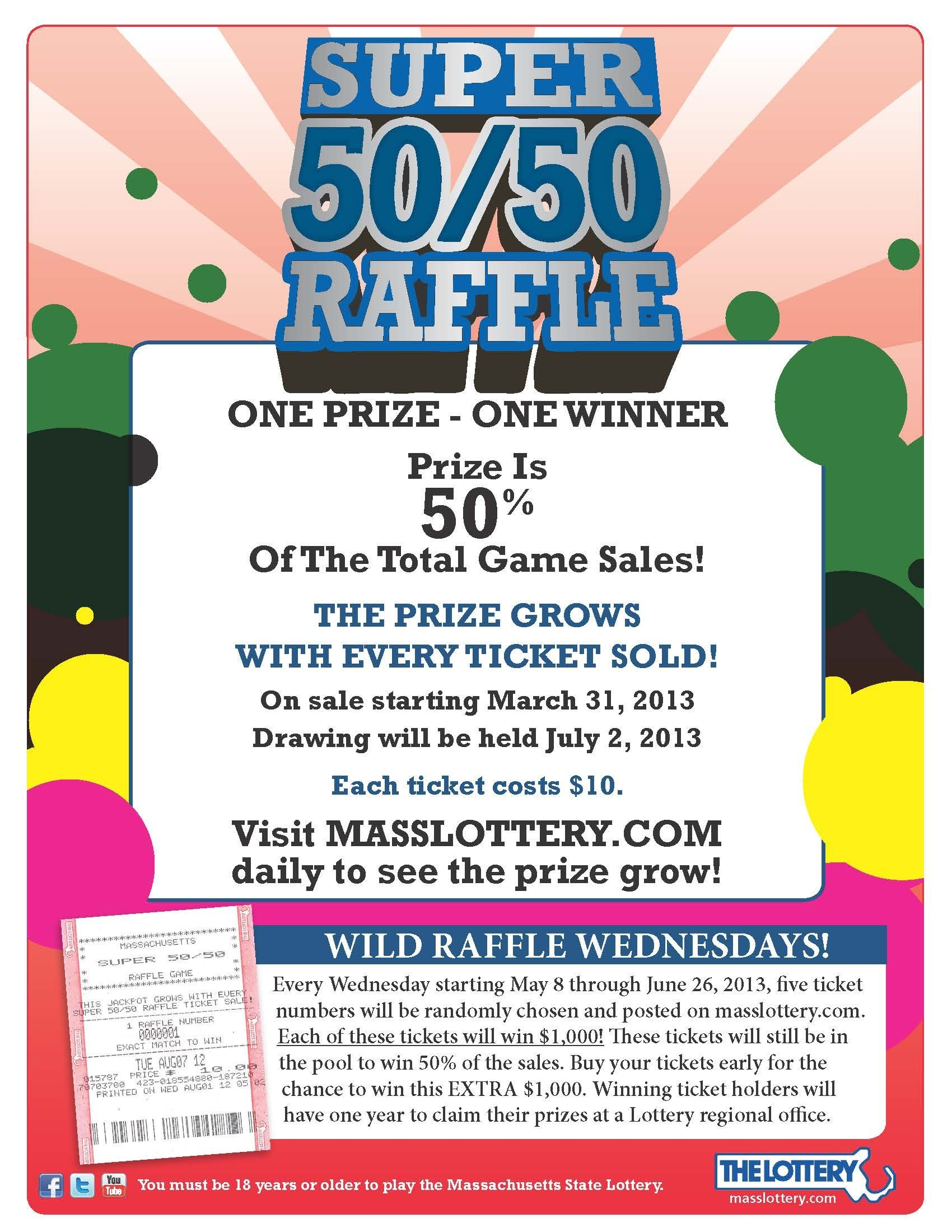 Raffle Drawing Flyer Template