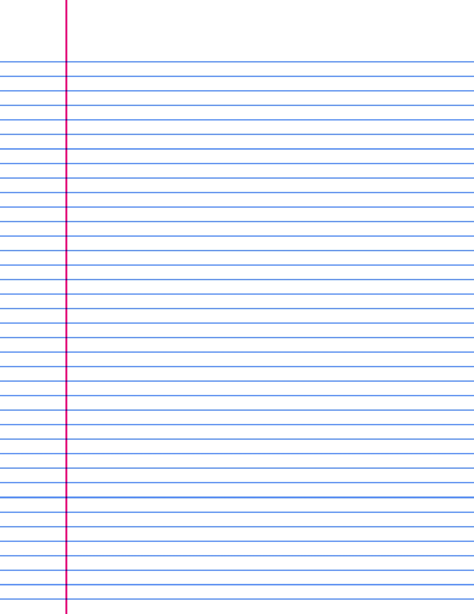 College Ruled Lined Paper Template