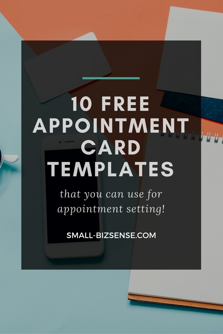 Appointment Card Template Blank