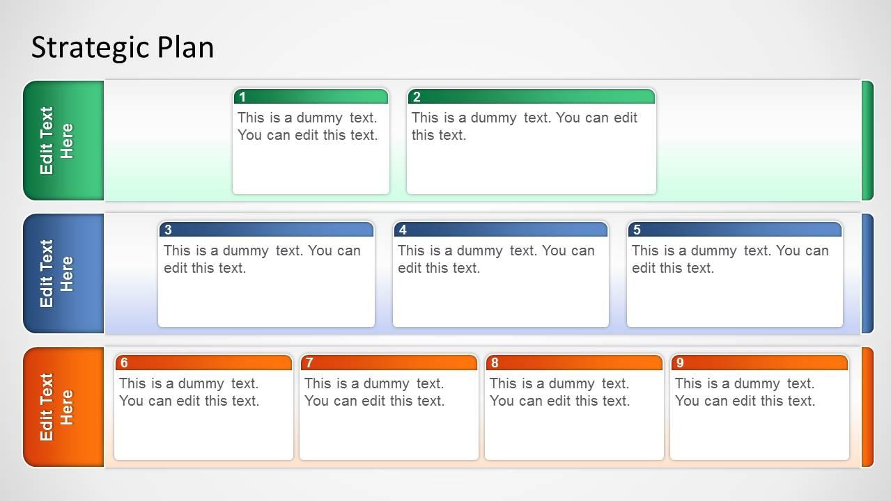 Basic Strategic Plan Template For Powerpoint Slidemodel