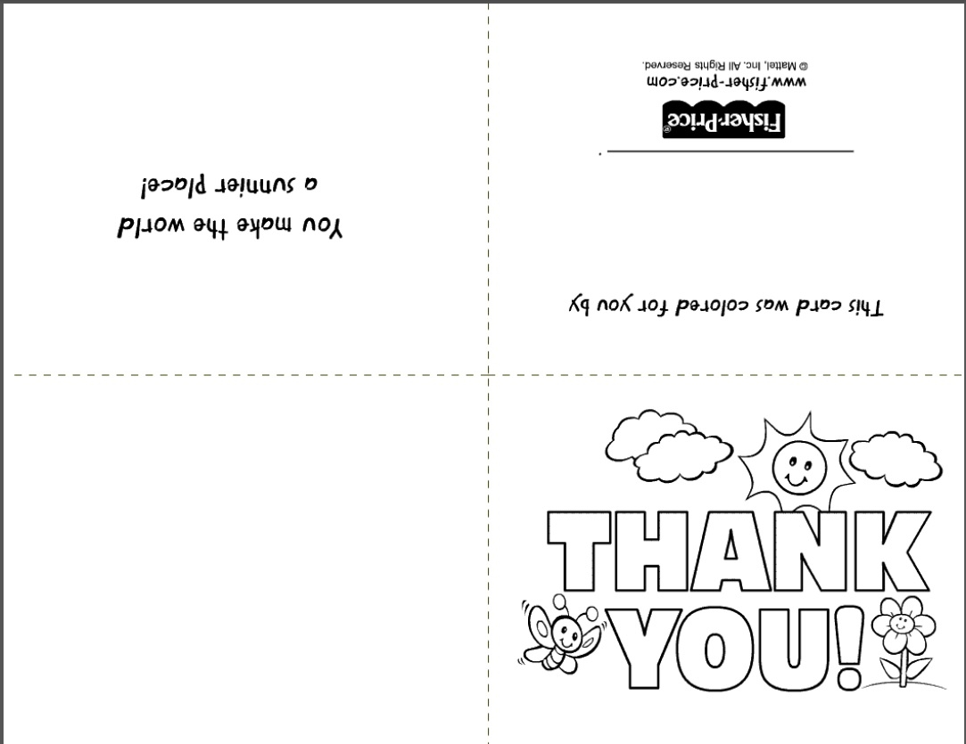 Foldable Thank You Card Template