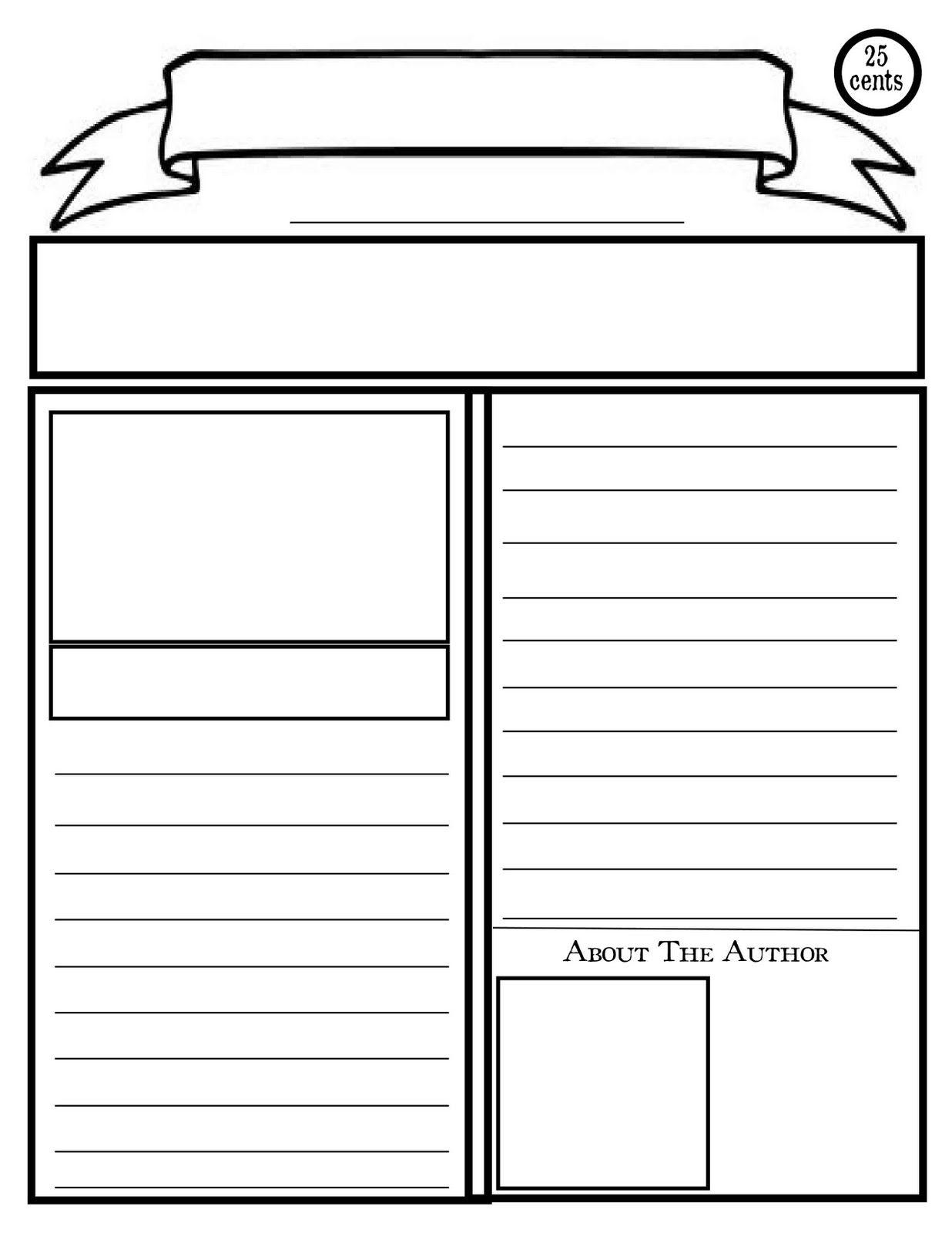 Blank Newspaper Template For Kids Printable Homework Help