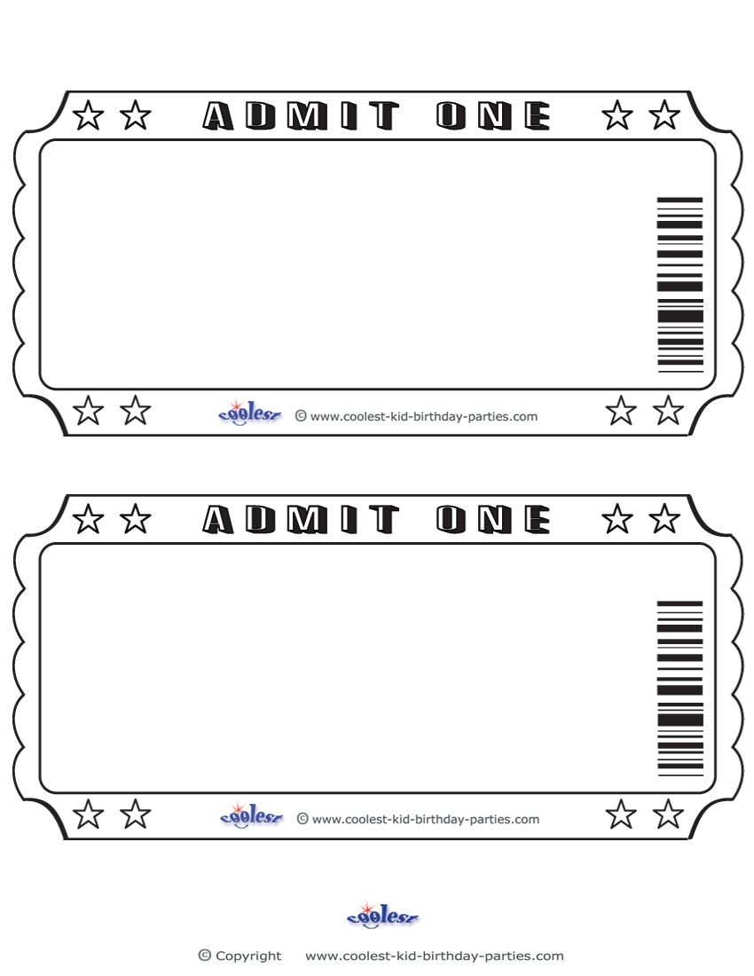 Talent Show Ticket Template