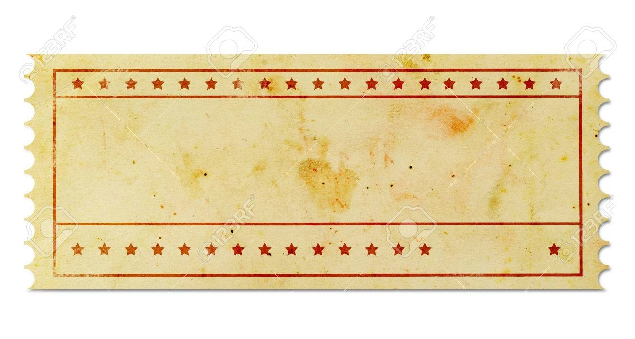Blank Vintage Ticket Stock Photo Picture And Royalty Free Image