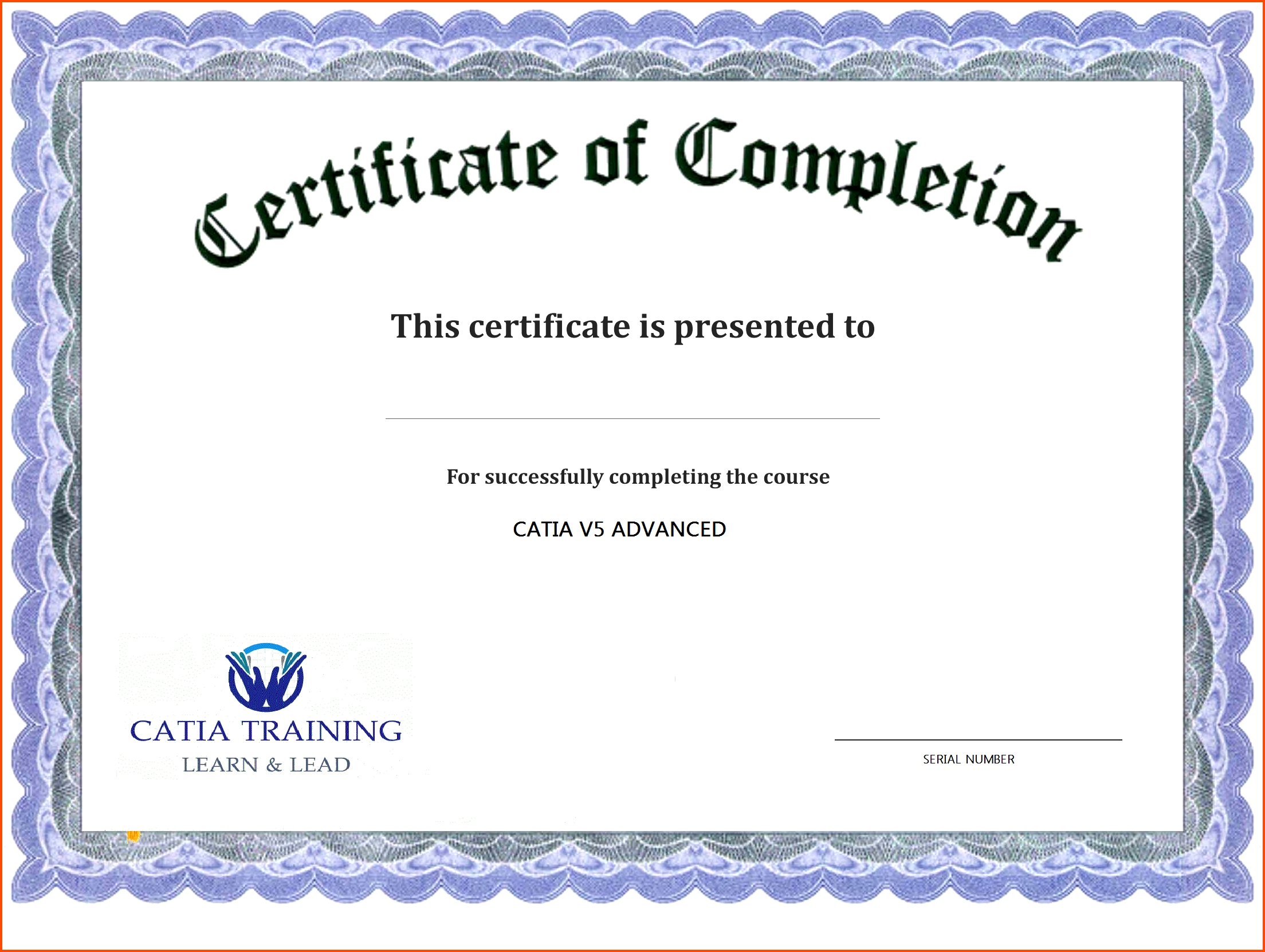 Printable Word Certificate Completion Templates