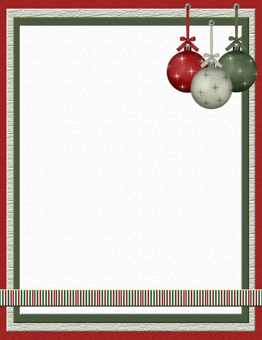 Free Word Holiday Templates