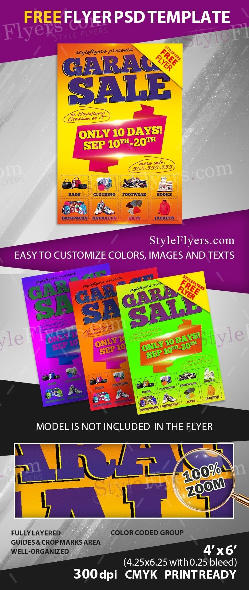 Clothing Sale Flyer Template Free