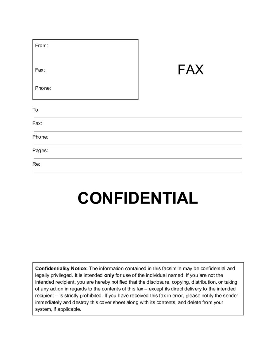 Confidential Fax Cover Sheet Template Edit Fill Sign Online