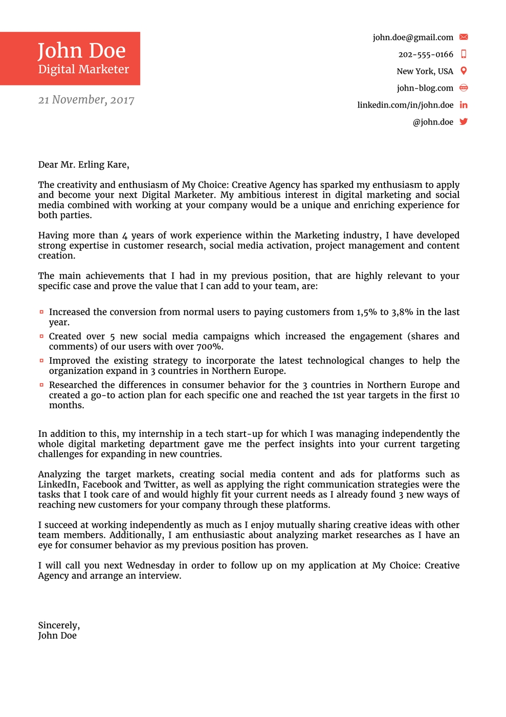 Cover Letter Templates For 2019 Use Land Your Dream Job Now