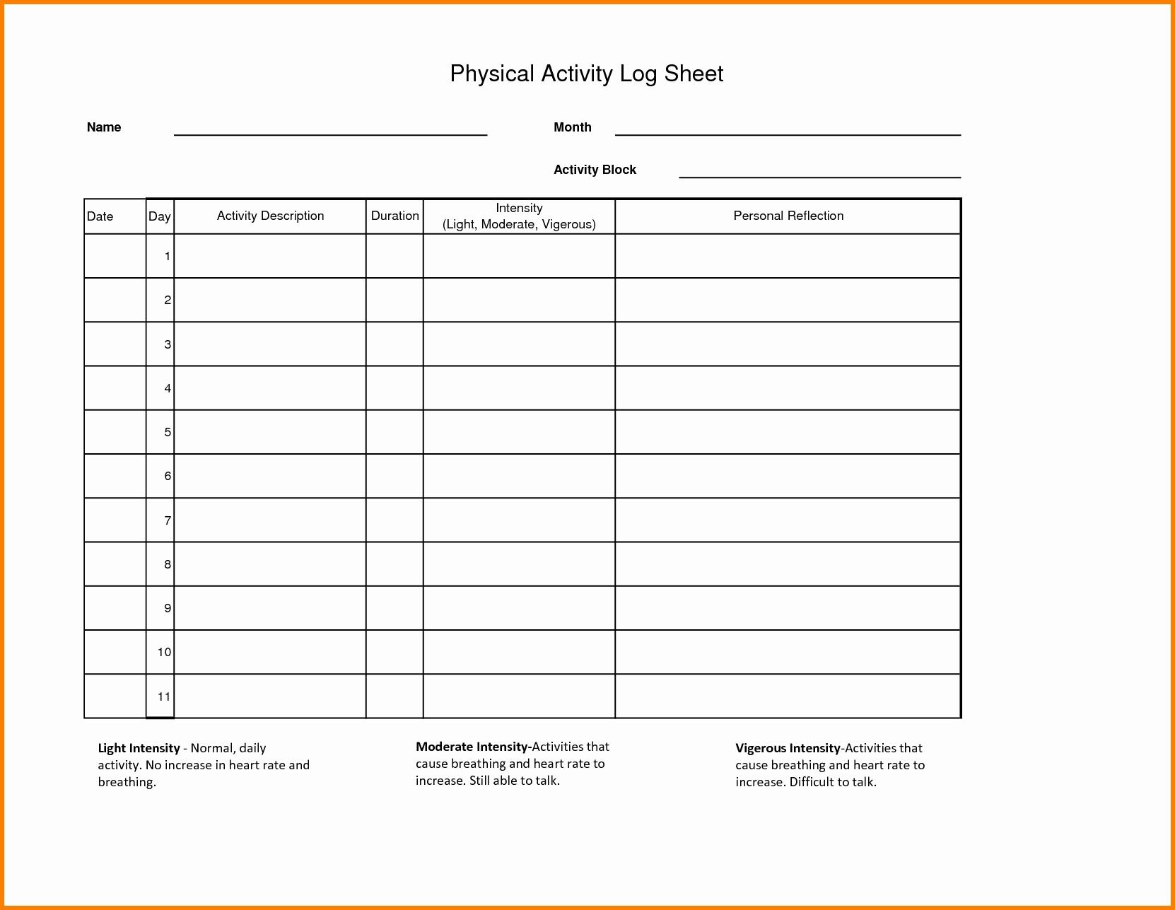 Daily Activity Log Template 1 Hello Marathi