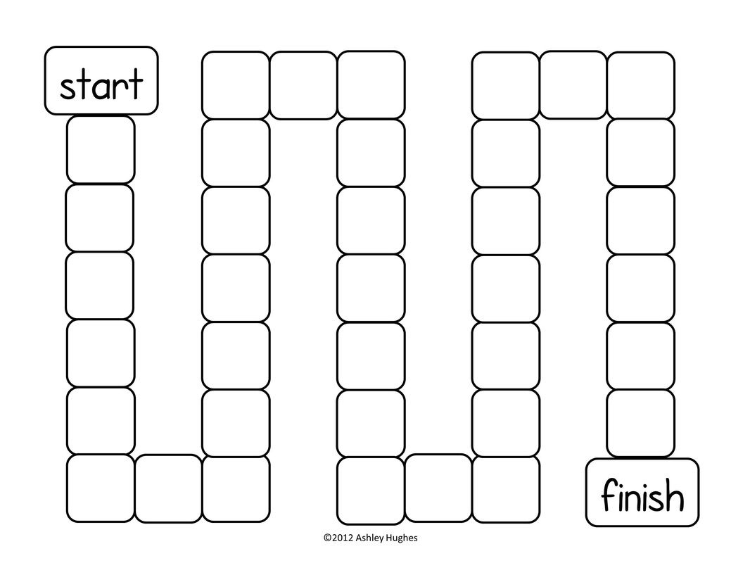 Free Game Board Template Game Boards For Ela Letter And Students