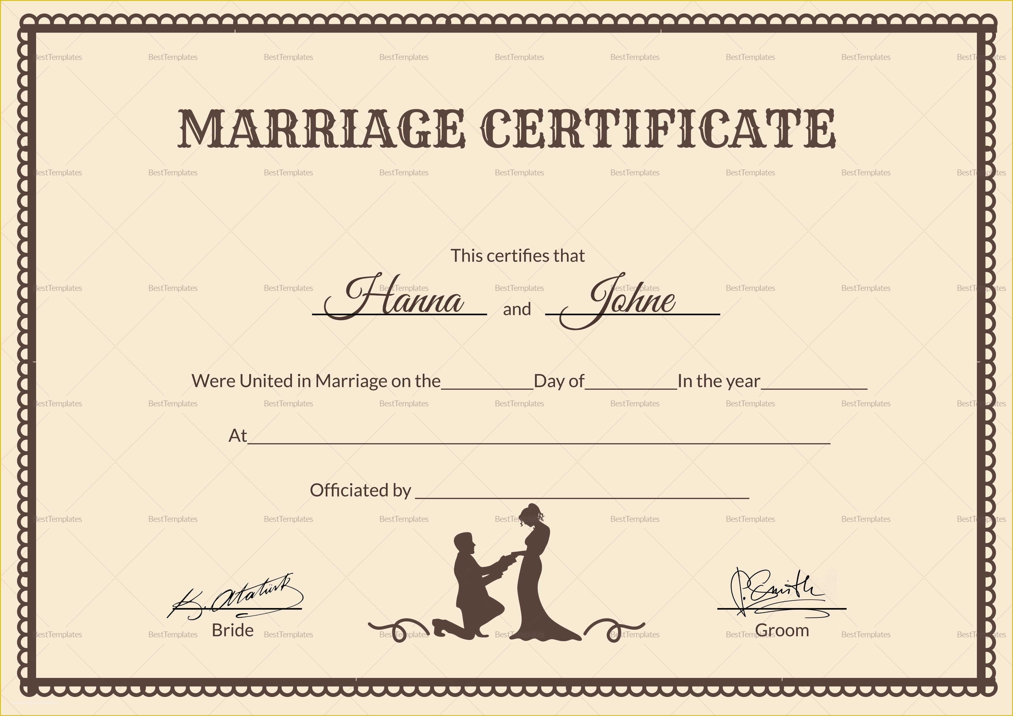It's just a photo of Rare Free Marriage Certificate Template