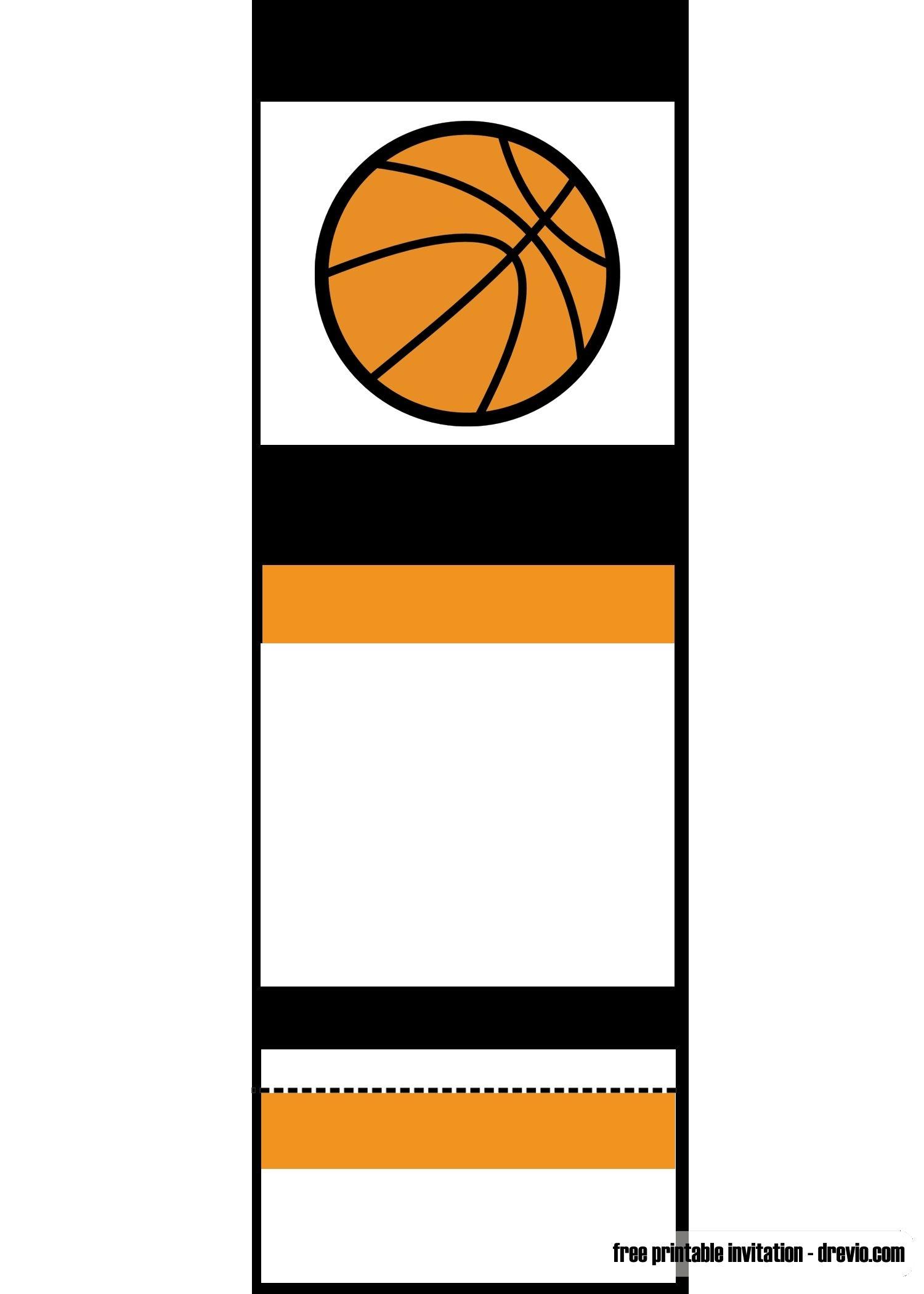 Free Printable Basketball Ticket Invitation Unc Vs Gonzaga