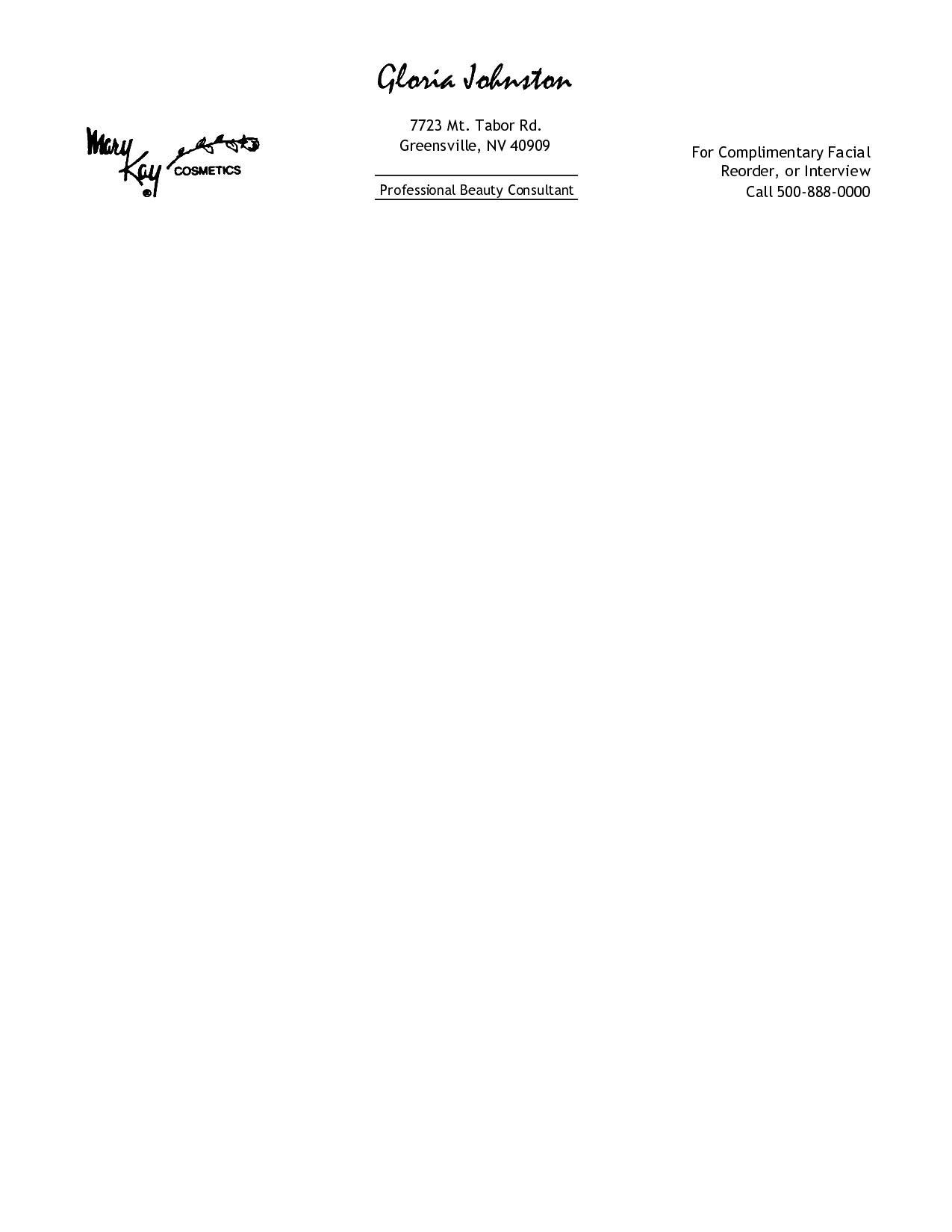 Free Personal Letterhead Templates