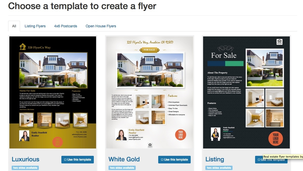 Real Estate Flyer Templates Microsoft | Qualads