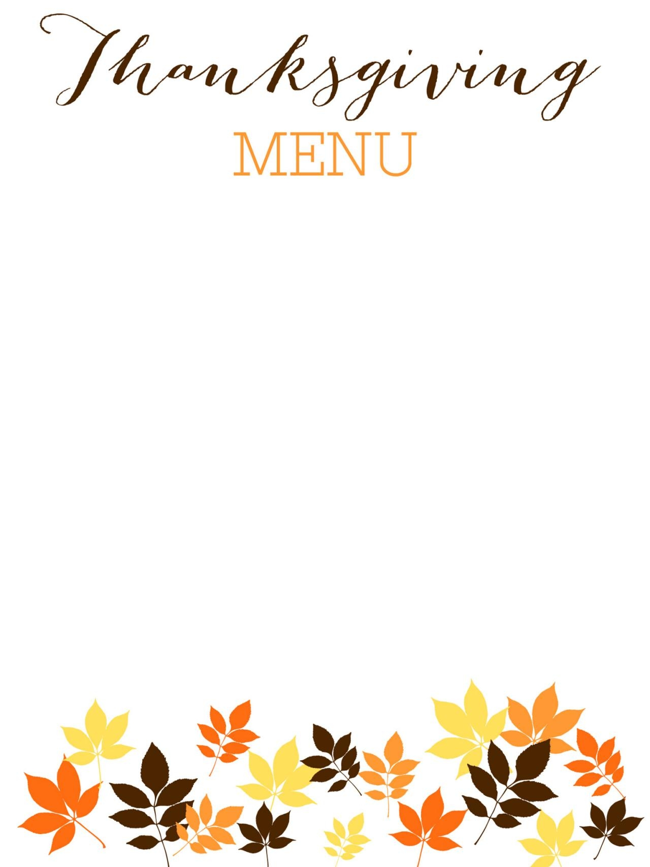Thanksgiving Label Templates