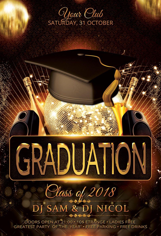 Graduation Party Flyers Templates