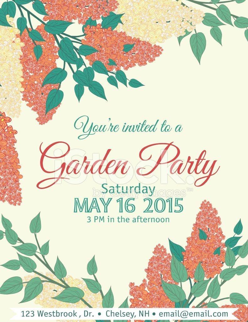 Garden Party Invitation Templates