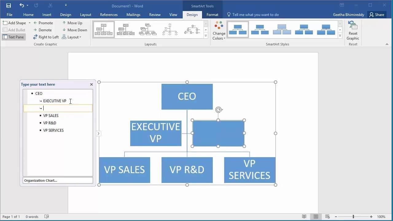 Microsoft Word Organizational Chart Template