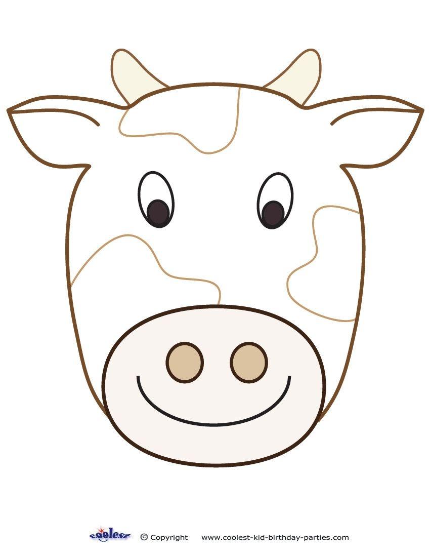 Cow Face Printable Masks Templates