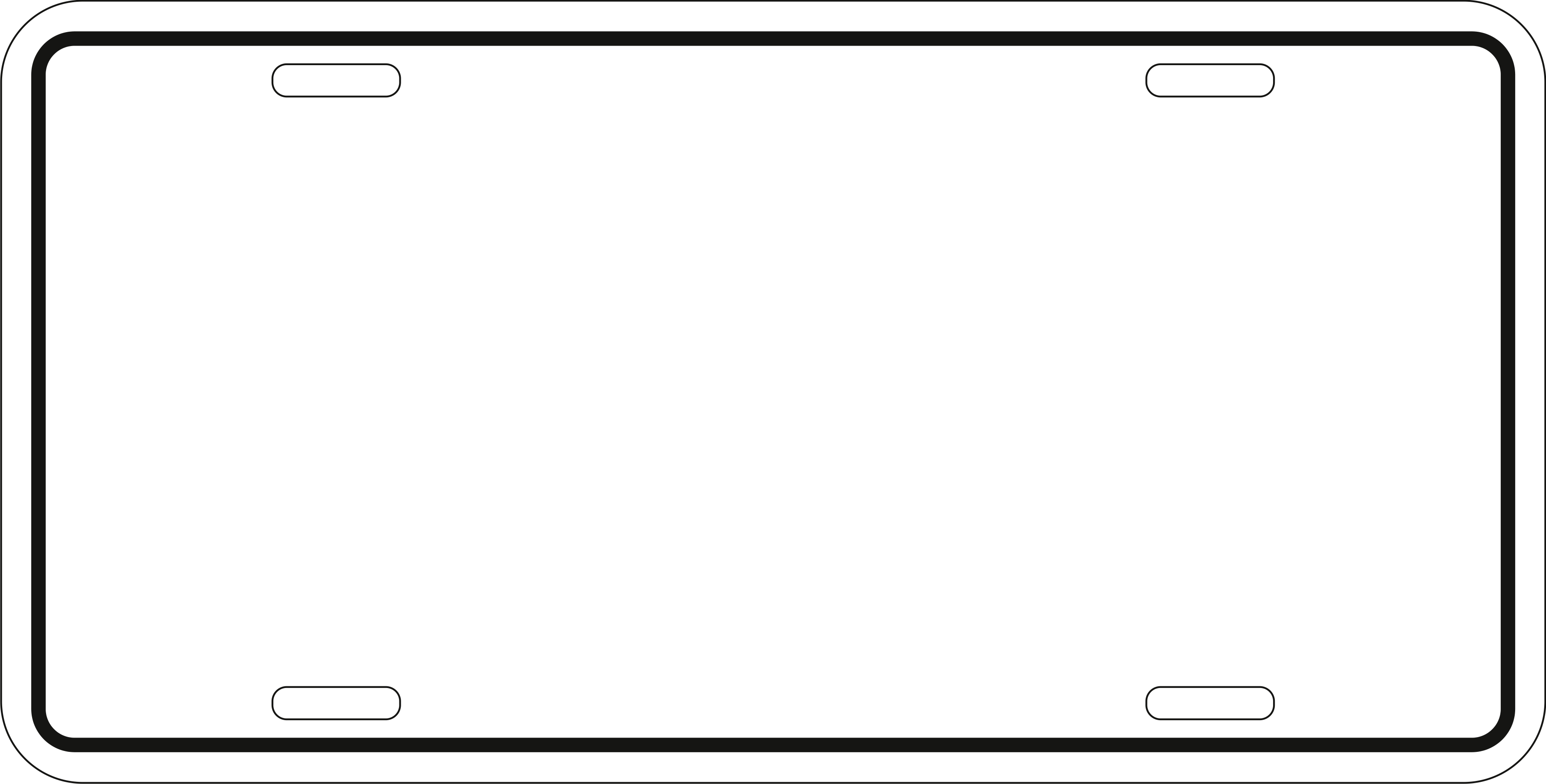 Free Printable License Plate Template