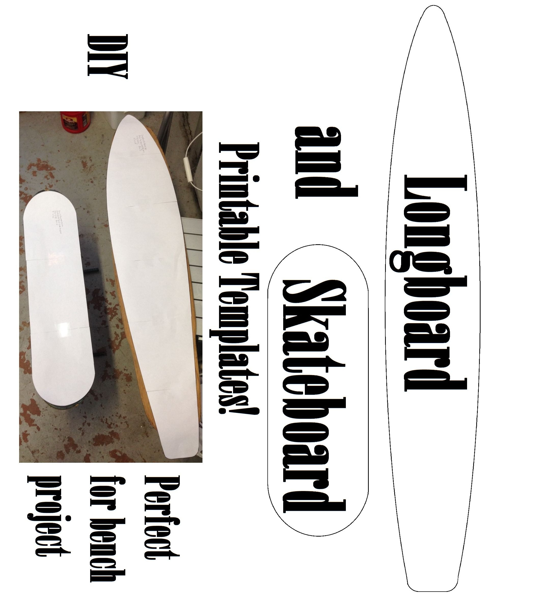 Skateboard Longboard Templates