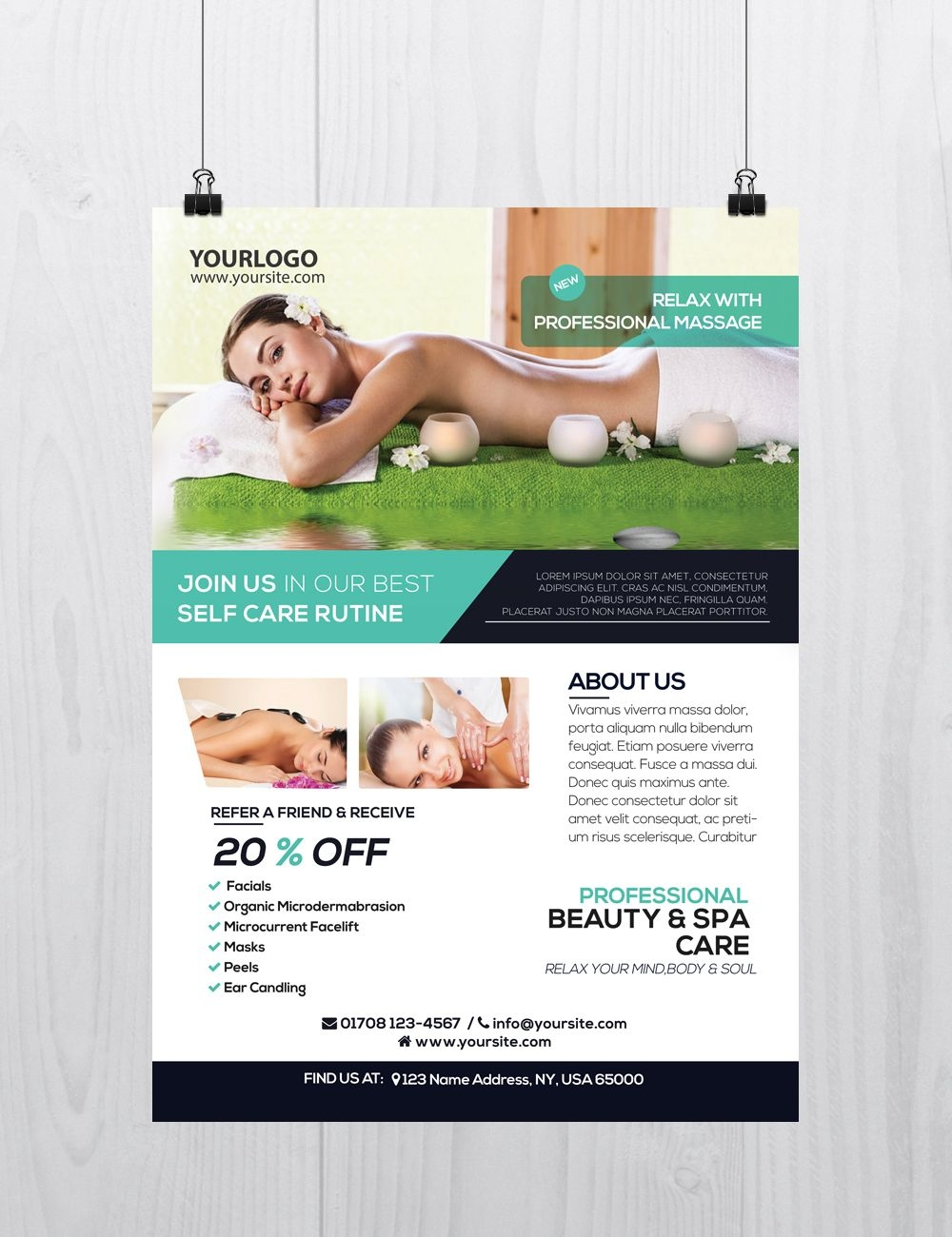 Free Massage Brochure Template