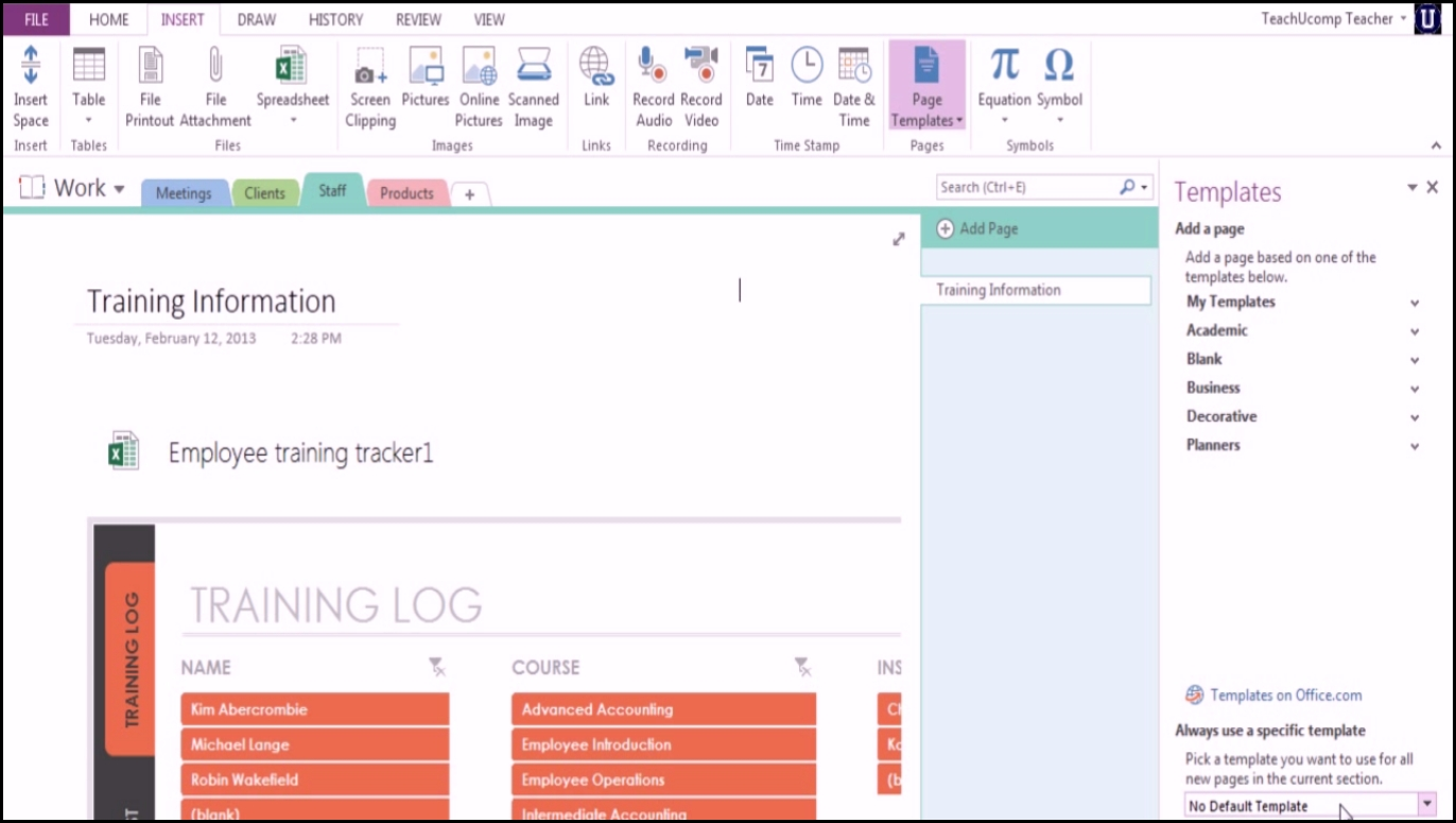 Onenote 2013 Notebook Templates