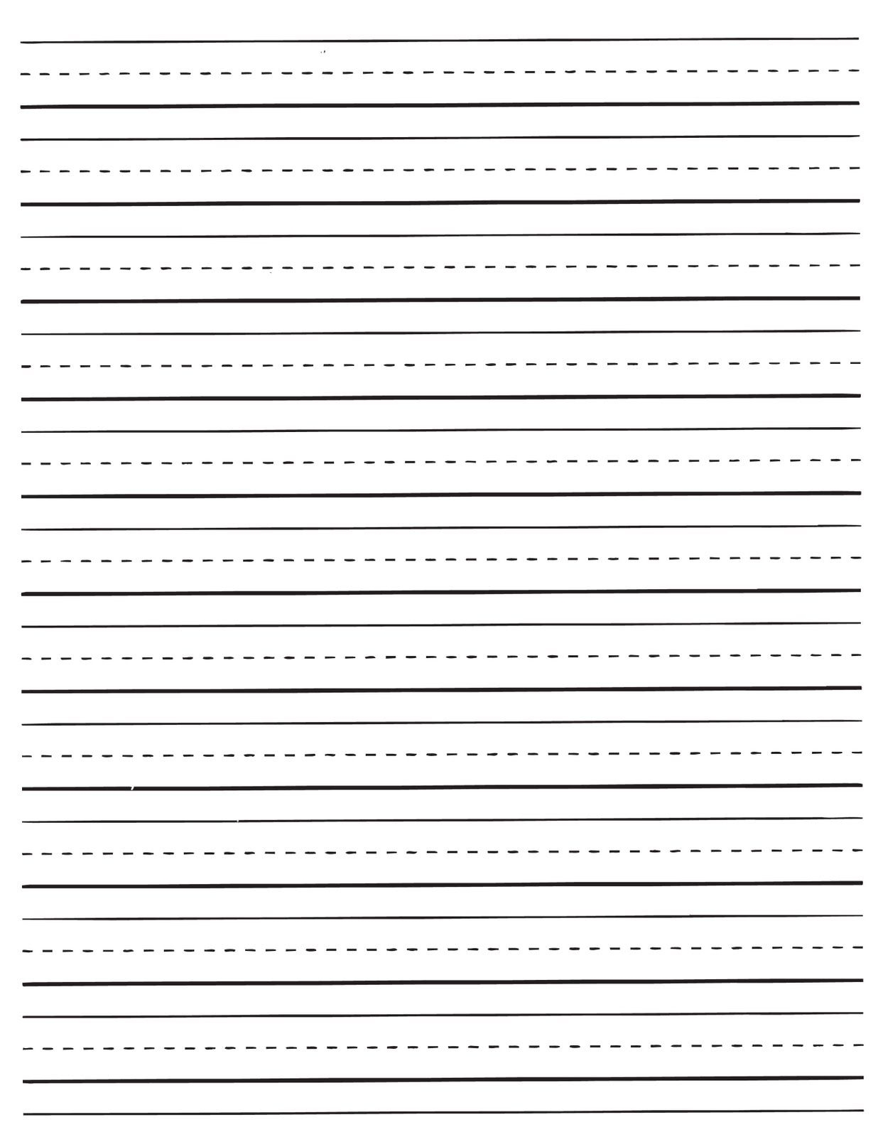 Kids Lined Writing Paper Template