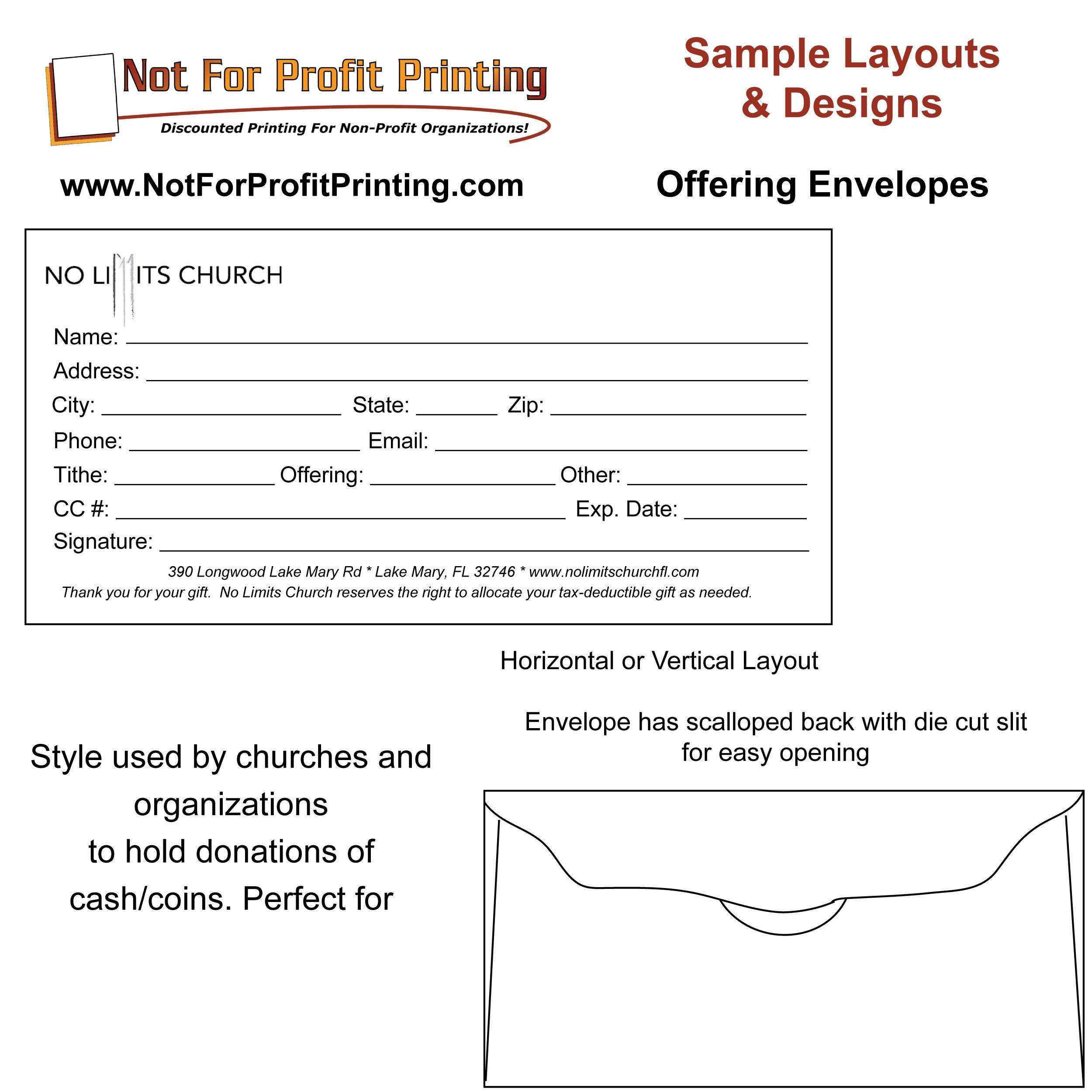 Church Offering Envelopes Templates