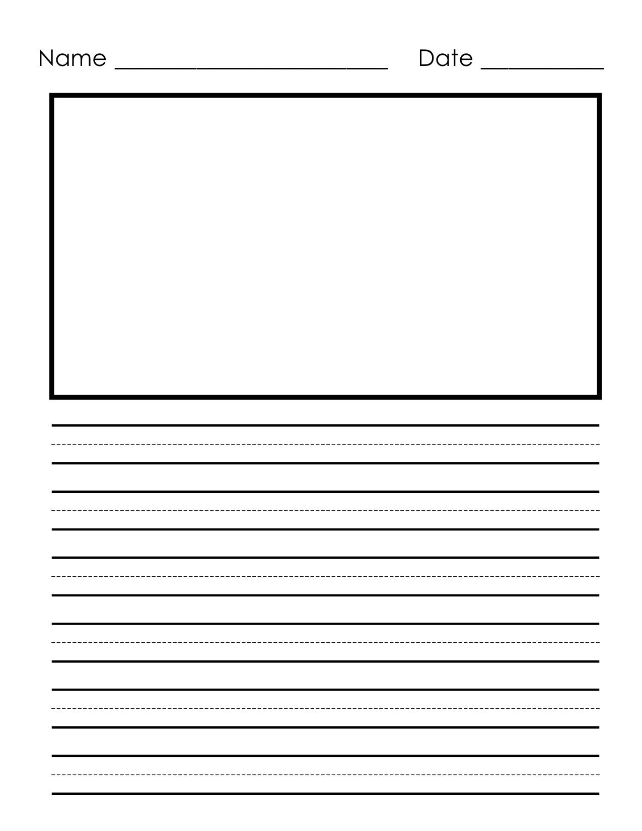 Free Primary Writing Paper Template