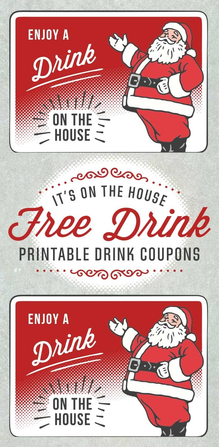 Christmas Drink Ticket Templates Free