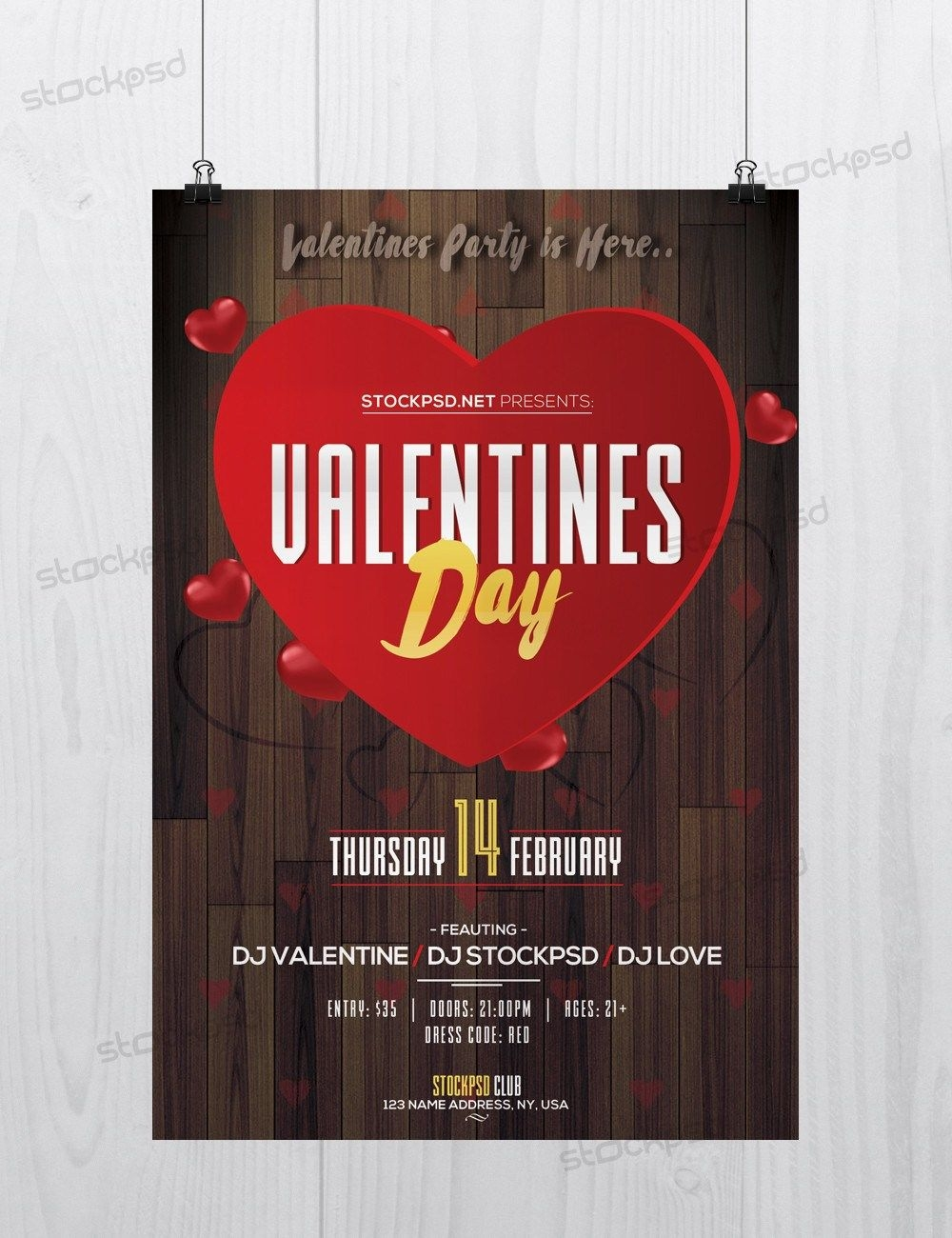Valentines Day Event Download Free Psd Flyer Template Free Psd