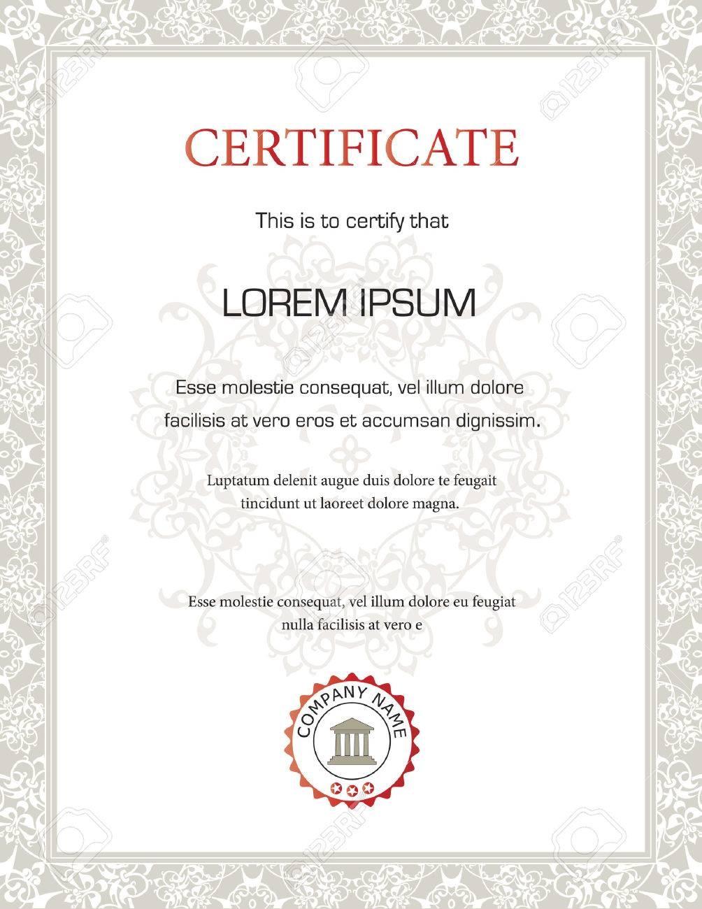 Vertical Blank Certificate Templates