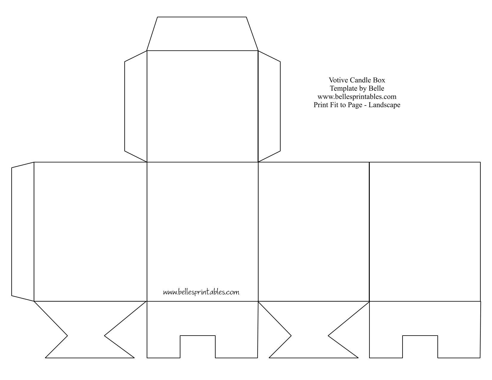 Square Box Template Printable