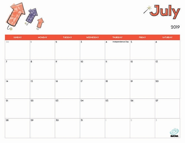 June 2019 Calendar For Kids