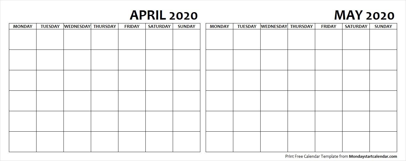 April May 2020 Calendar Sunday Start