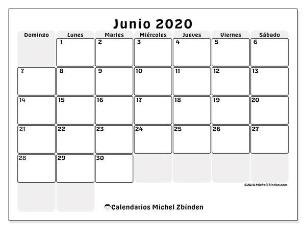 Calendarios Junio 2020 Ds Michel Zbinden Es